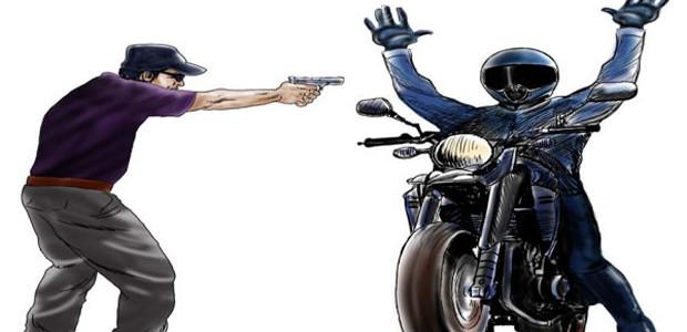 Vítima entra em luta corporal com assaltantes antes de roubarem sua moto em Cruz das Almas