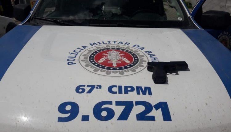 POLÍCIA MILITAR DE SÃO GONÇALO APREENDE SIMULACRO DE ARMA DE FOGO EM AFLIGIDOS