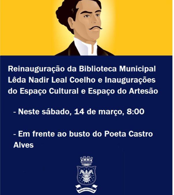 MURITIBA: Biblioteca Municipal será reinaugurada neste sábado