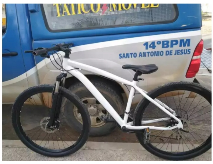 SAJ: Polícia Militar recupera bicicleta próximo a Paraguassu Veículos