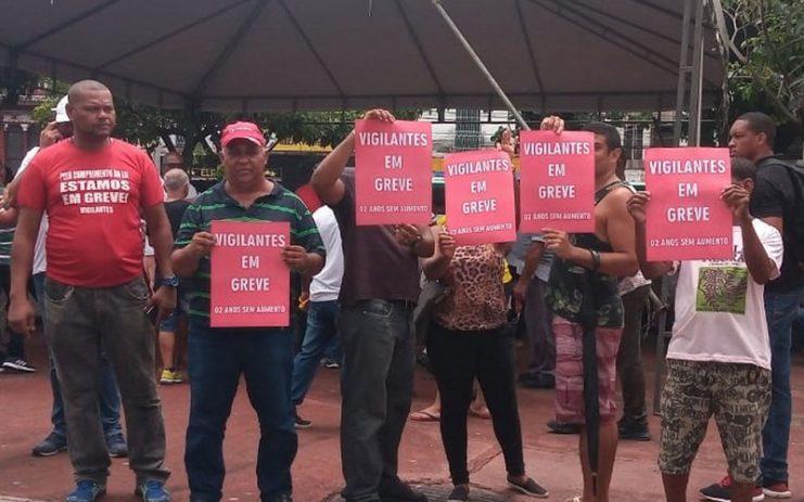 Vigilantes da Bahia entram em greve por tempo indeterminado