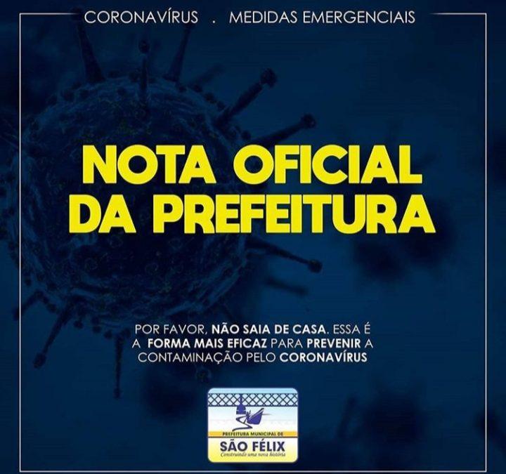 Prefeitura Municipal de São Félix iniciou algumas estratégias para adotar novas medidas protetivas