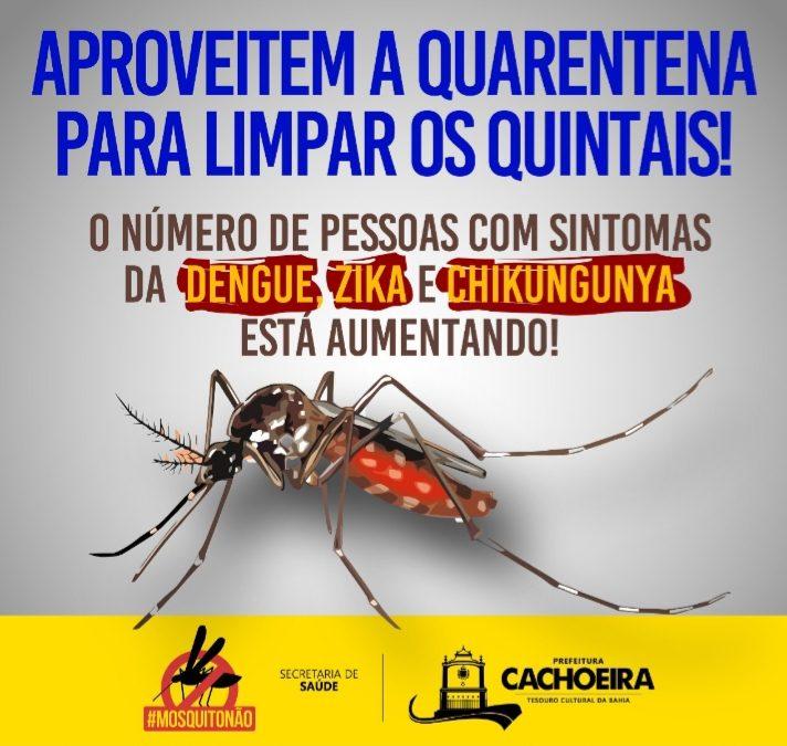 Cachoeira segui determinação do Ministério da Saúde,com atividades de campo no controle contra a Dengue, Zica e Chikungunya