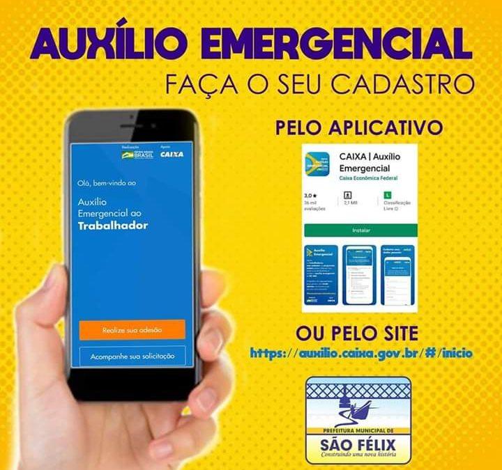 SÃO FÉLIX: FIQUEM LIGADOS PARA AUXÍLIO EMERGENCIAL