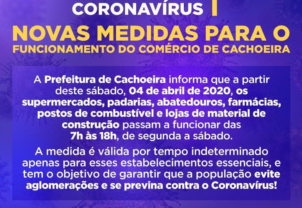 Prefeitura Decreta Novas Medidas Para o Funcionamento do Comercio de Cachoeira