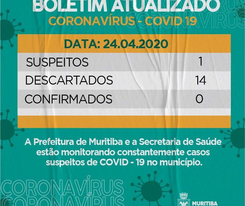 MURITIBA: Prefeitura divulga Boletim Epidemiológico atualizado nesta sexta- feira (24)