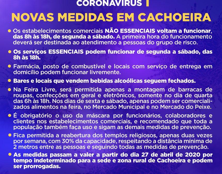 CACHOEIRA: Prefeitura decreta Novas medidas para o funcionamento do comercio