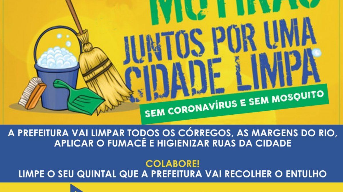 Prefeitura de São Félix realiza Mutirão de limpeza na cidade