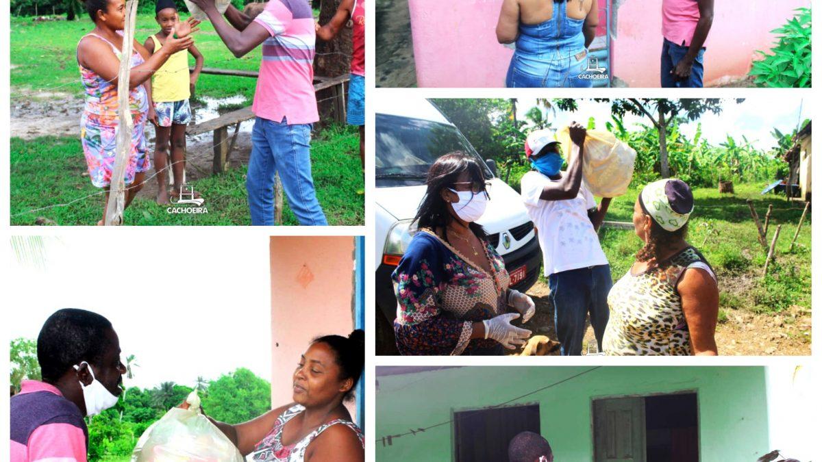 CACHOEIRA: Prefeitura Municipal Junto à Sec. de Promoção à Igualdade Racial e de Assistência Social entregam cestas básicas as famílias das comunidades quilombolas