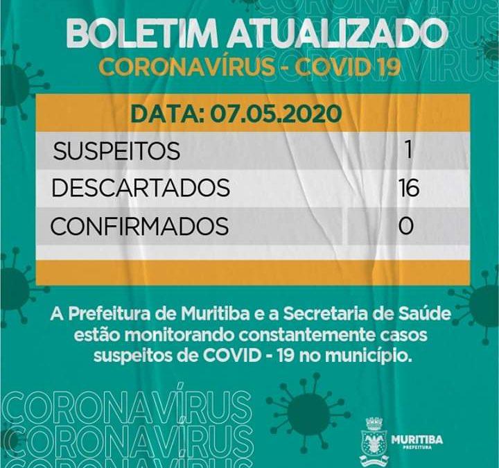 MURITIBA: Prefeitura Divulga Boletim Epidemiológico atualizado: