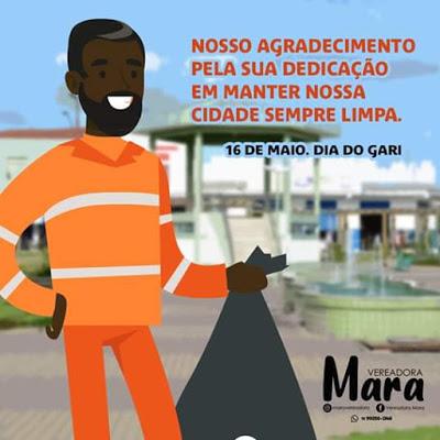 Muritiba: Vereadora Mara presta homenagem aos garis