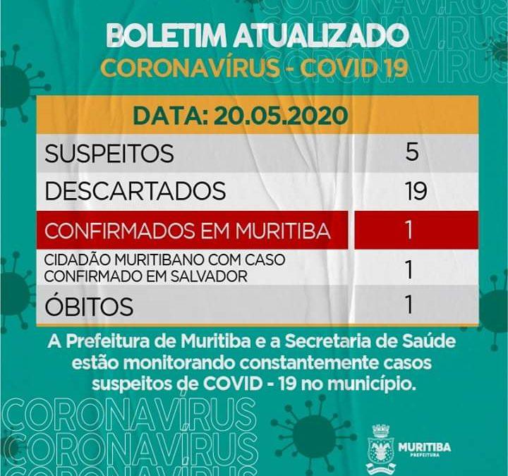 MURITIBA: Prefeitura  divulga últimas atualizações no Boletim Epidemiológico: