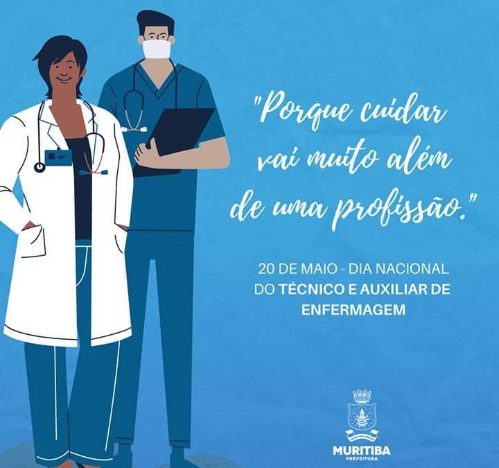 prefeitura de Muritiba parabeniza todos os técnicos e auxiliares de enfermagem pelo seu dia