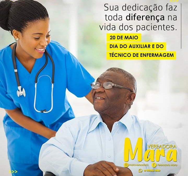 MURITIBA: Vereadora Mara parabeniza todos os Auxiliares e Técnicos de Enfermagem pelo seu dia