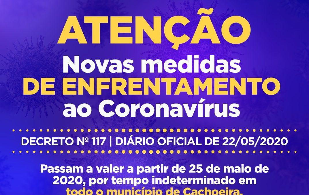 CACHOEIRA: Prefeitura decreta novas medidas de prevenção e enfrentamento ao Coronavírus