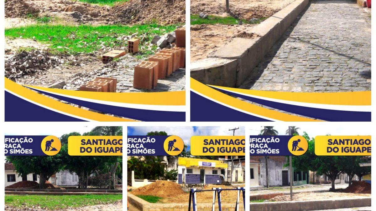 CACHOEIRA: Prefeitura Municipal está requalificando a Praça Geraldo Simões, em Santiago do Iguape