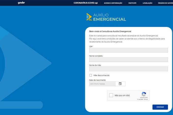 Governo lança site para consulta ao auxílio emergencial de R$ 600