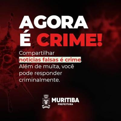Muritiba: Divulgar notícias falsas sobre pandemias, endemias e epidemias agora é crime