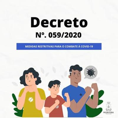 Muritiba: Prefeitura publica novo Decreto com medidas restritivas para o combate à Covid-19