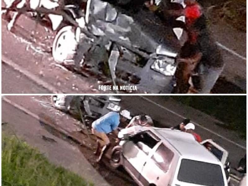 Gov. Mangabeira:  Duas pessoas ficam feridas em acidente na BR-101