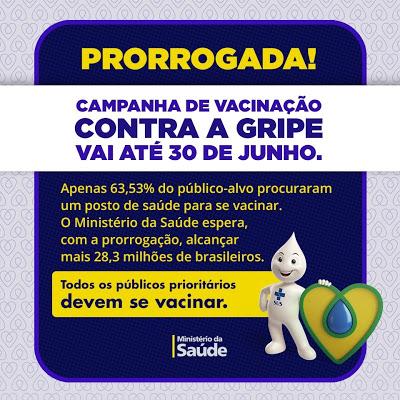Cachoeira: Prorrogada Campanha de Vacinação Contra a Gripe