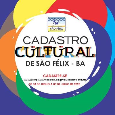 São Félix: Prefeitura convoca toda cadeia produtiva da cultura sanfelixta para inclusão no Cadastro Cultural do município