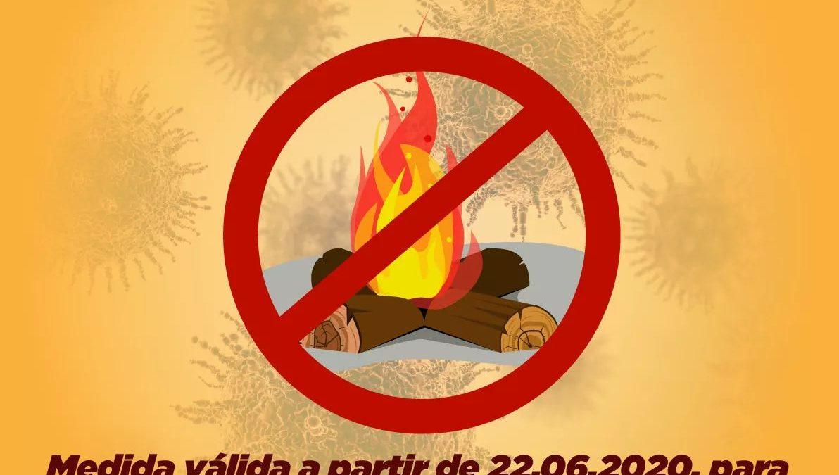 CACHOEIRA: Prefeitura proibi  partir de 22 de junho de 2020 acender fogueiras nas ruas, praças, avenidas, estradas vicinais e demais espaços públicos da sede e zona rural.