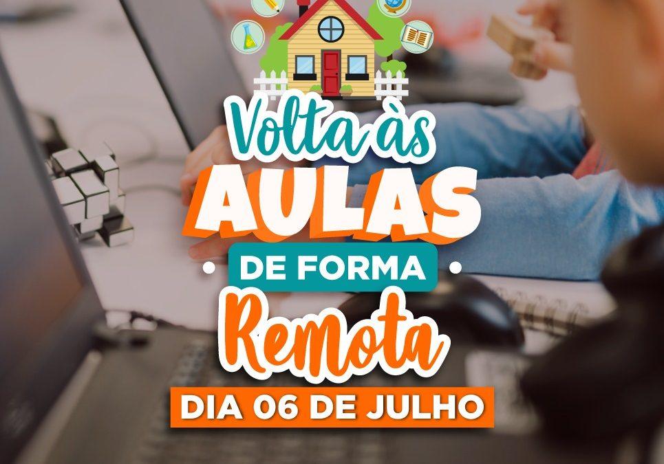 CACHOEIRA: Atividades remotas retornarão no dia 6 de julho, pelas plataformas digitais e atividades impressas