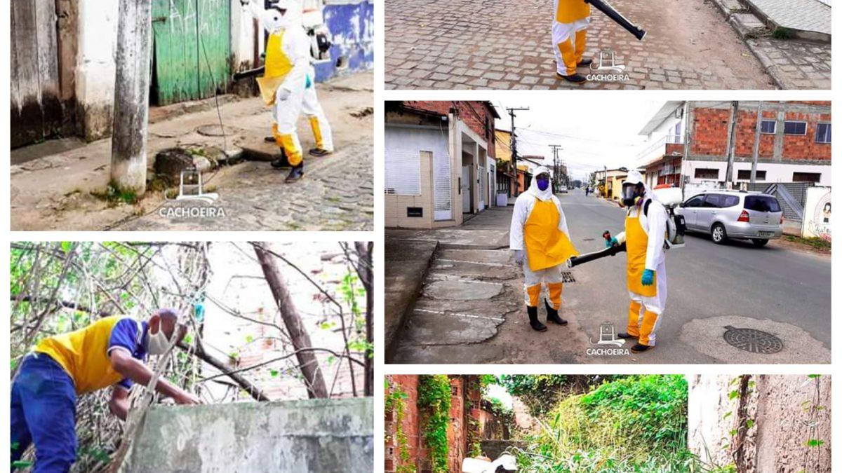 CACHOEIRA:Agentes de Endemias em ação contra o mosquito Aedes Aegypti!