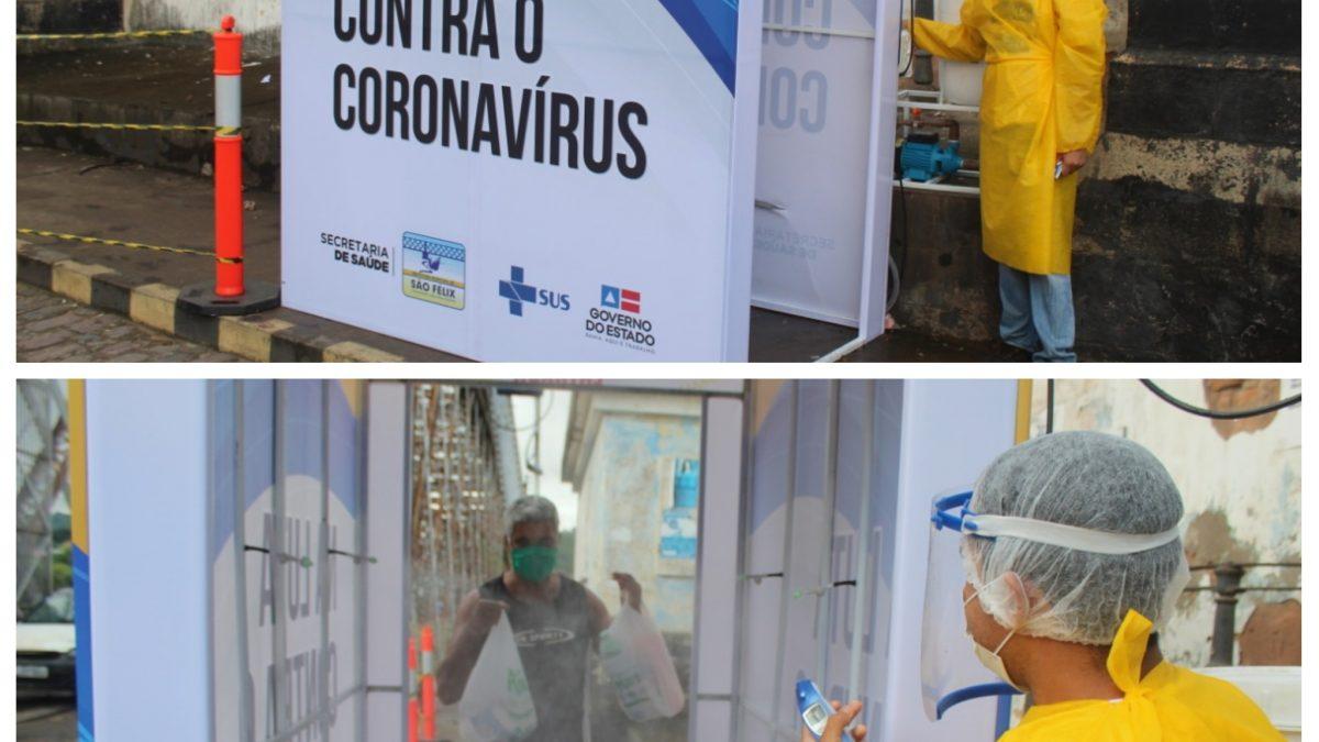 SÃO FÉLIX: Prefeitura instala túneis de desinfecção na cidade