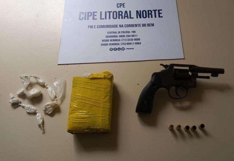 Suspeitos, armas e drogas são localizados pela PM nos municípios de Governador Mangabeira e Salvador