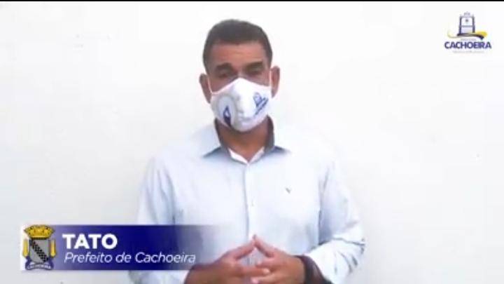 PREFEITO TATO ALERTA PARA A PROIBIÇÃO DE GUERRA DE ESPADAS EM CACHOEIRA!