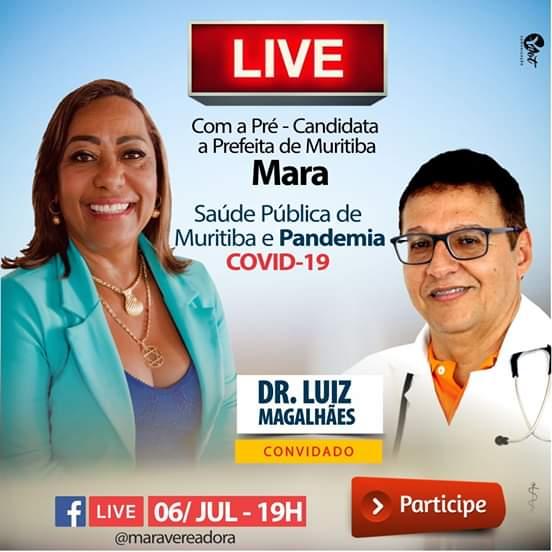 Muritiba: Live com a pré-candidata a Prefeita Mara e o Dr. Luiz Magalhães acontece nesta segunda (06)