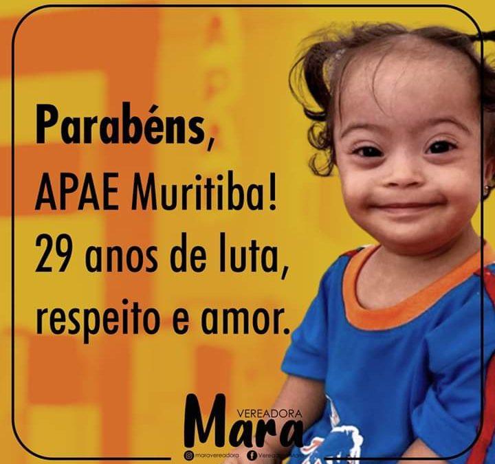 MURITIBA: Vereadora Mara parabeniza APAE, pelos seus 29 anos de luta, respeito e amor.