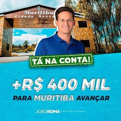 Muritiba: Vereador Bia do Açougue consegue mais R$ 400 mil, através do deputado federal João Roma, para o município