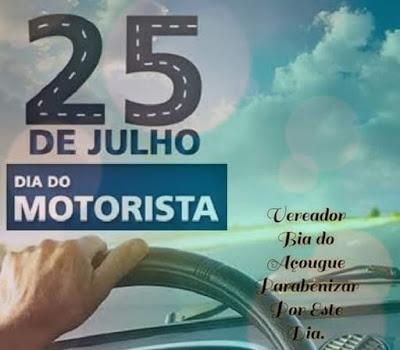 Muritiba: Vereador Bia do Açougue homenageia todos os motoristas