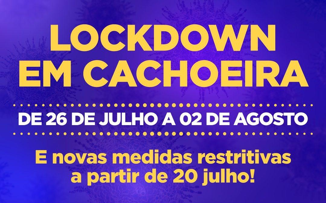 A partir de amanhã (20) entram em vigor medidas mais rígidas para conter o aumento do número de casos de Coronavírus em Cachoeira