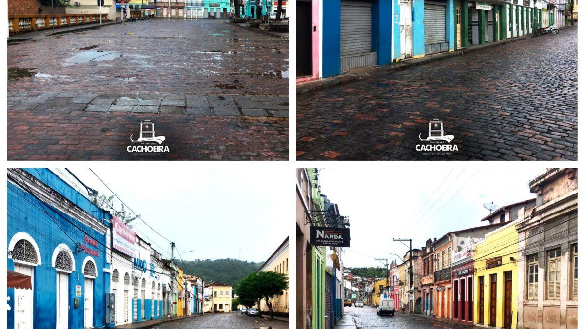 Para conter o aumento do número de casos de Coronavírus, a *Prefeitura de Cachoeira* iniciou ontem (26) o lockdown em toda a cidade.