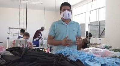 Prefeitura de Muritiba já produziu mais de 25 mil máscaras para a população
