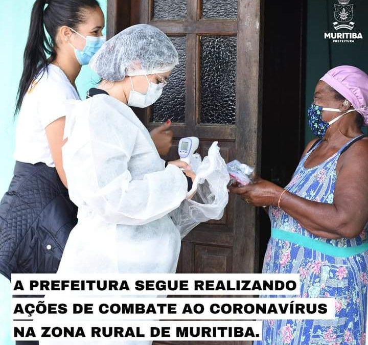 As ações de prevenção e  combate ao Coronavírus em Muritiba seguem firmes.