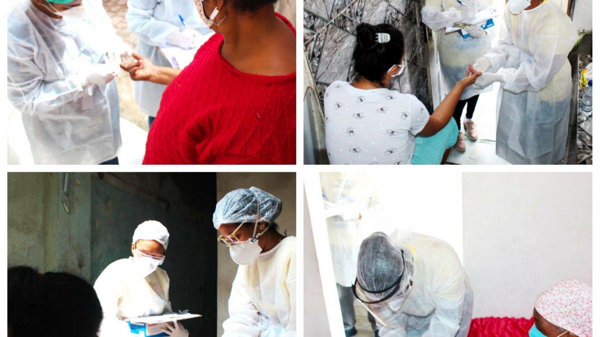 CACHOEIRA: Prefeitura está realizando testagem rápida nos locais com maior número de casos de Covid-19.