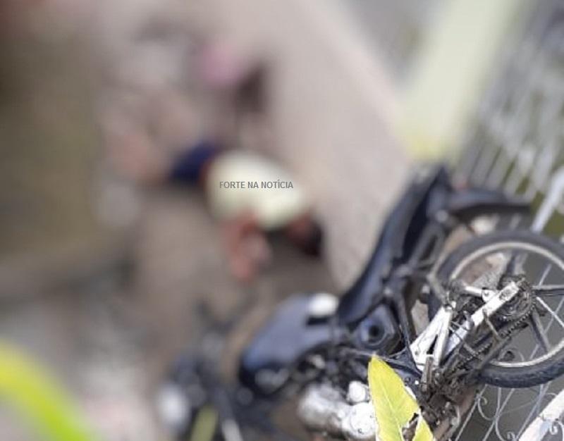 Governador Mangabeira: casal fica ferido após colidir moto contra residência
