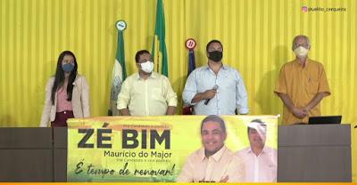 Muritiba: Convenção partidária confirma Zé Bim pré-candidato a prefeito e Maurício do Major a vice
