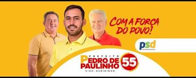 Pedro de Paulinho, do PSD, é eleito prefeito de Cabaceiras do Paraguaçu