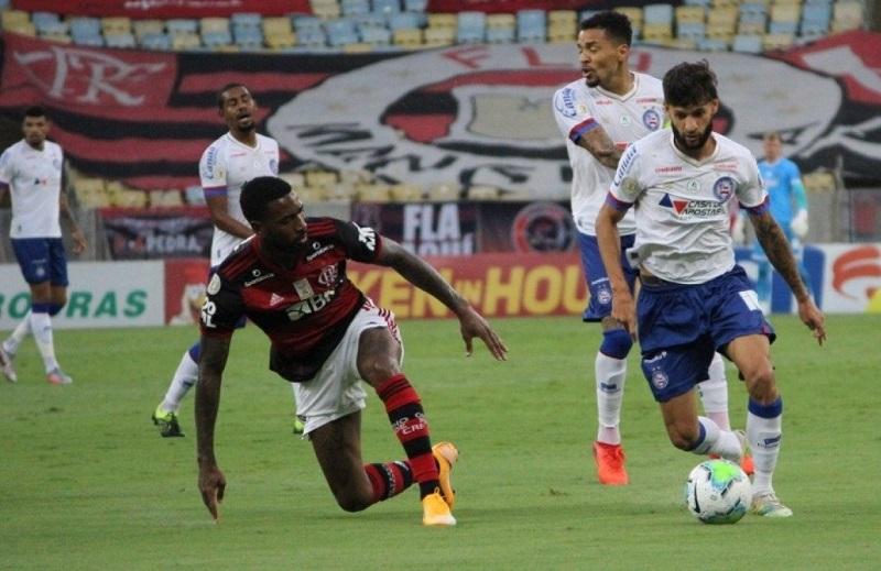 Bahia não aproveita vantagem numérica e perde para o Flamengo no Maracanã