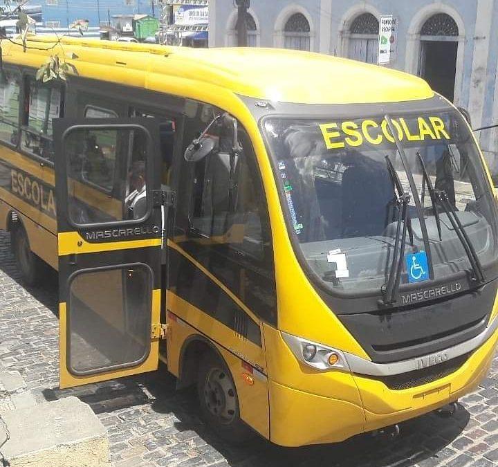 SÃO FÉLIX: Prefeitura adquiri mais um Ônibus Escolar, que vai reforçar a frota de veículos da Secretaria de Educação.
