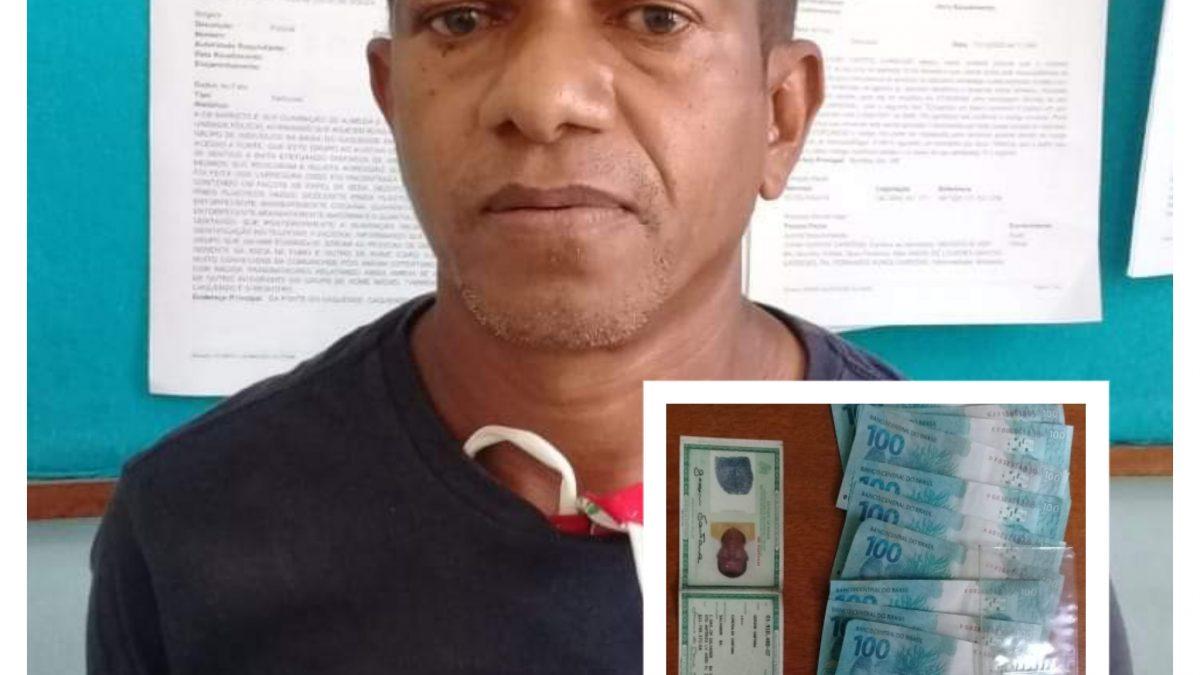 Muritiba: Estelionatário é preso circulando notas de R$100 reais falsas no Comércio