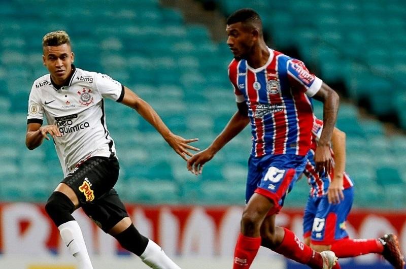 Bahia vence o Corinthians na Fonte Nova e sai da zona de rebaixamento