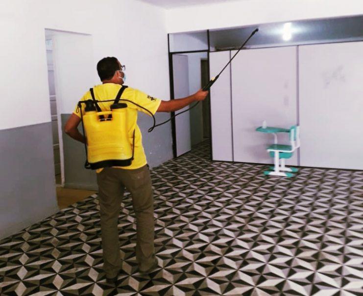 Central Municipal de Regulação recebe higienização especial em Cruz das Almas