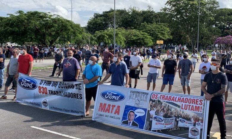Ford só pode demitir seus empregados após fim da negociação coletiva, diz MPT
